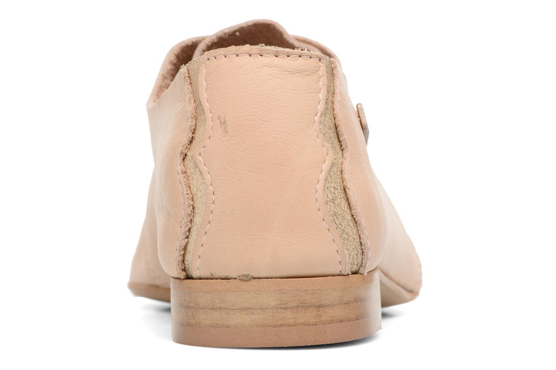 Chaussures à lacets Les Tropéziennes par M Belarbi Takarka Beige vue droite