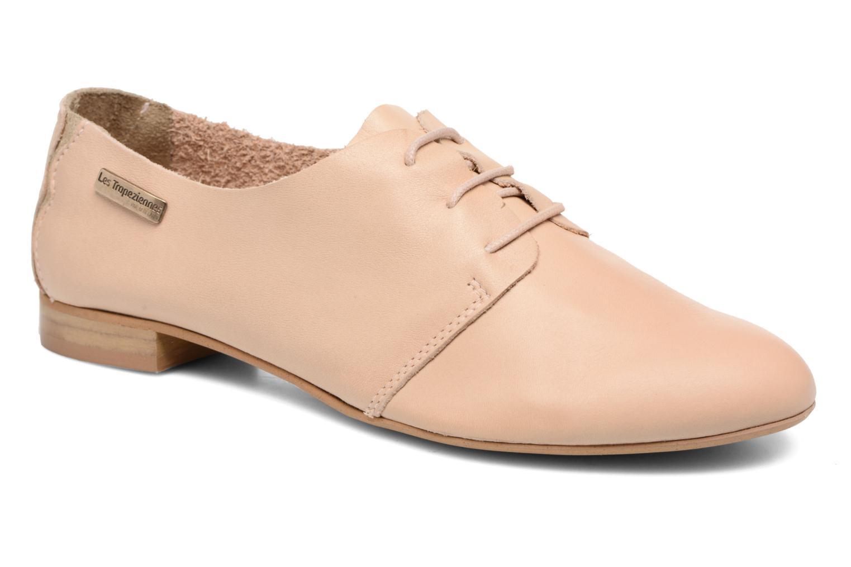 Chaussures à lacets Les Tropéziennes par M Belarbi Takarka Beige vue détail/paire
