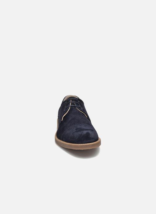Schnürschuhe Jack & Jones JFW Billy Suede blau schuhe getragen