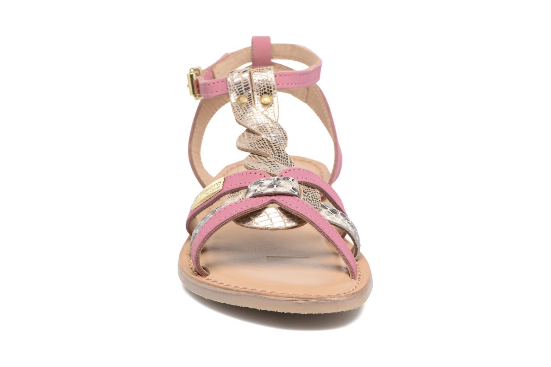 Sandales et nu-pieds Les Tropéziennes par M Belarbi Badiane Rose vue portées chaussures