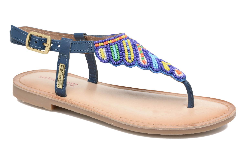 Sandals Les Tropéziennes par M Belarbi Nuage Blue detailed view/ Pair view