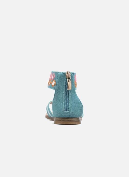 Sandales et nu-pieds Les Tropéziennes par M Belarbi Galactik Bleu vue droite