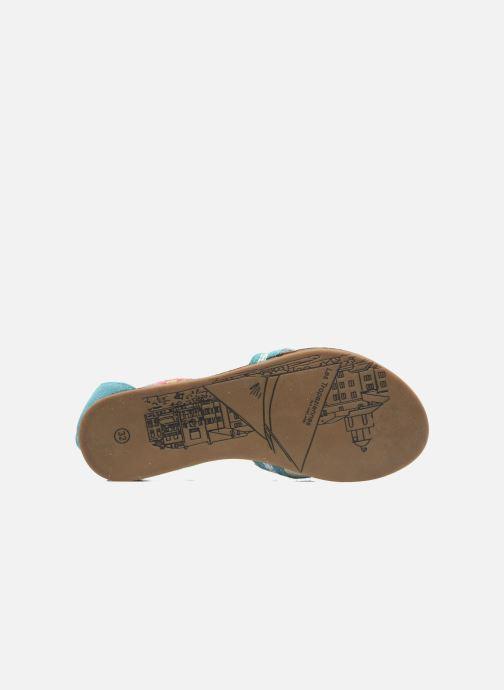 Sandales et nu-pieds Les Tropéziennes par M Belarbi Galactik Bleu vue haut
