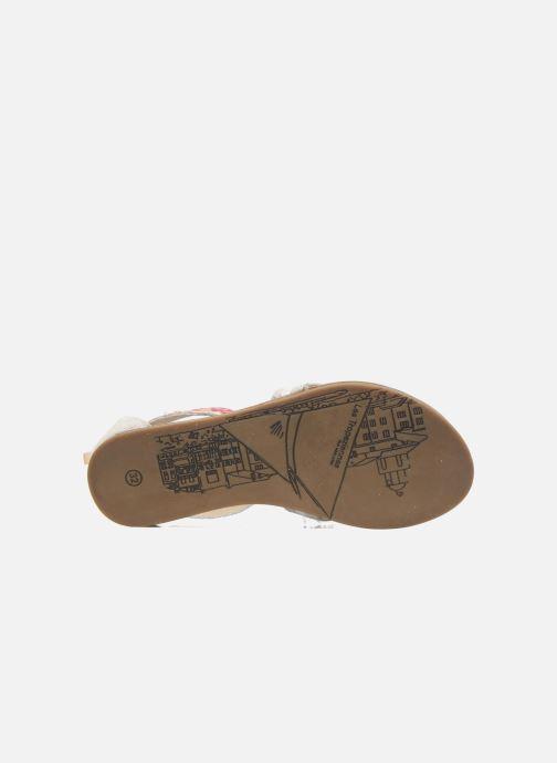 Sandales et nu-pieds Les Tropéziennes par M Belarbi Galactik Beige vue haut