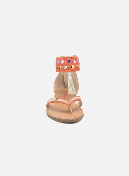 Sandales et nu-pieds Les Tropéziennes par M Belarbi Galactik Orange vue portées chaussures