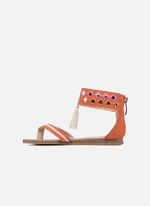 Sandales et nu-pieds Les Tropéziennes par M Belarbi Galactik Orange vue face