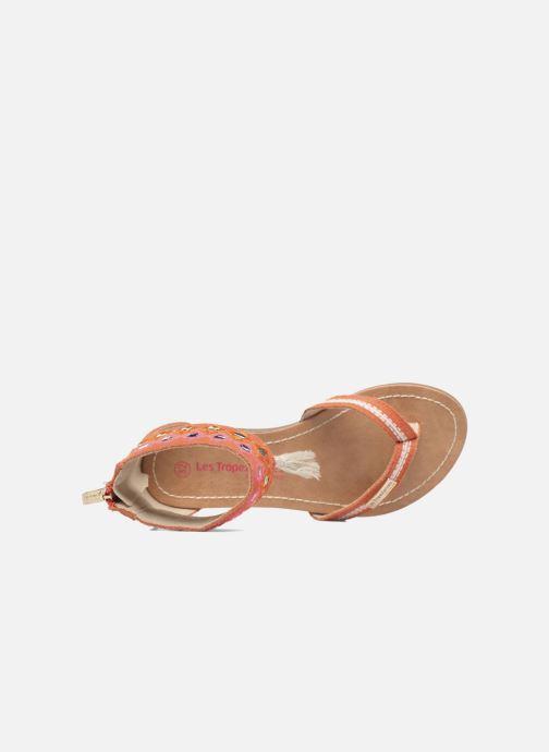 Sandales et nu-pieds Les Tropéziennes par M Belarbi Galactik Orange vue gauche