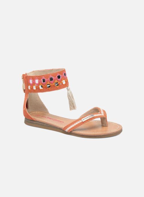 Sandales et nu-pieds Les Tropéziennes par M Belarbi Galactik Orange vue détail/paire