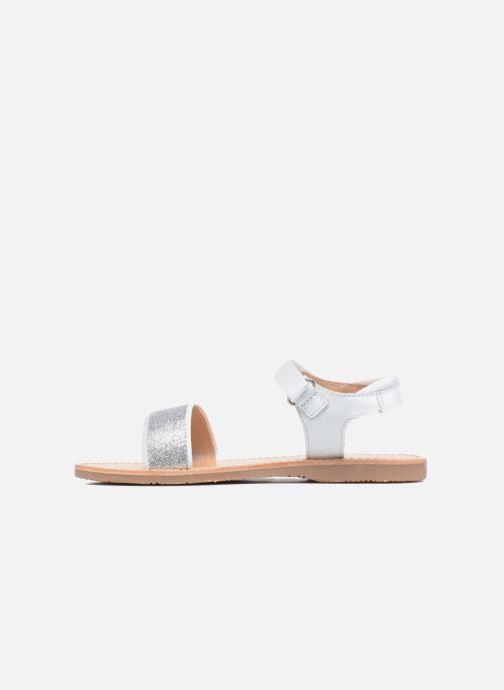 Sandales et nu-pieds Mellow Yellow Mnbadam Blanc vue face