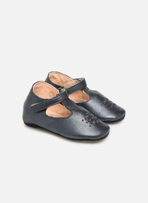 Hjemmesko Easy Peasy Lillyp Blå detaljeret billede af skoene