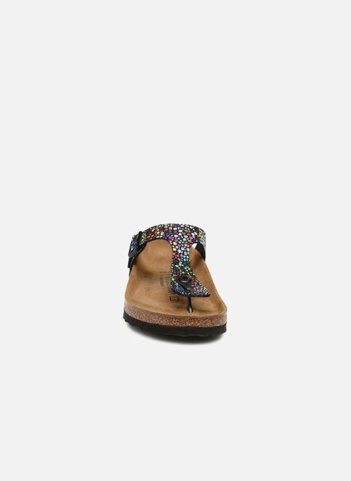 Mules et sabots Birkenstock Gizeh Microfibre W Multicolore vue portées chaussures