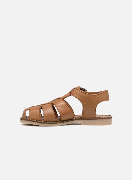 Sandales et nu-pieds Little Mary Brehat Marron vue face