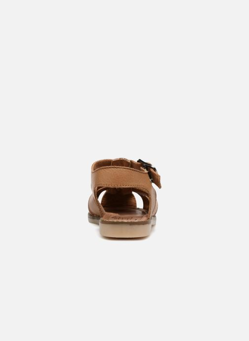 Sandales et nu-pieds Little Mary Brehat Marron vue droite