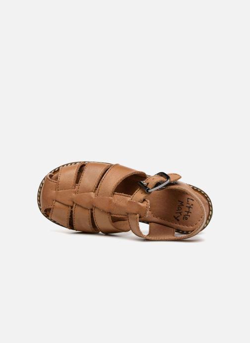 Sandali e scarpe aperte Little Mary Brehat Marrone immagine sinistra