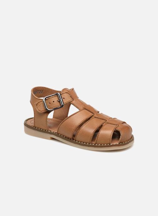 Sandales et nu-pieds Little Mary Brehat Marron vue détail/paire