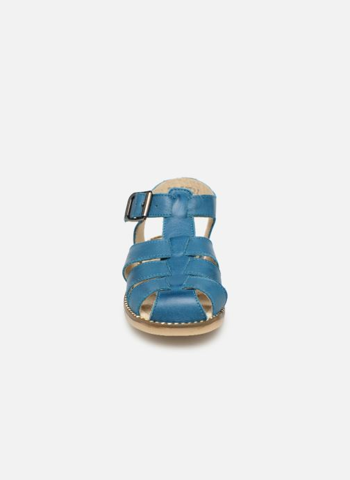 Sandalen Little Mary Brehat blau schuhe getragen