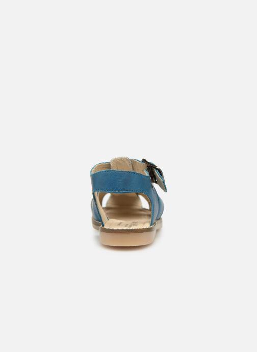 Sandalen Little Mary Brehat blau ansicht von rechts