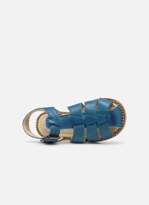 Sandalen Little Mary Brehat blau ansicht von links