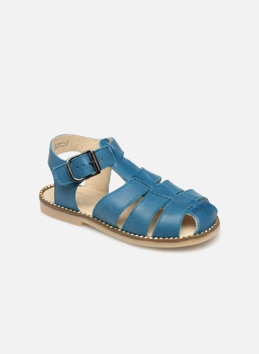 Sandals Little Mary Brehat Blue detailed view/ Pair view