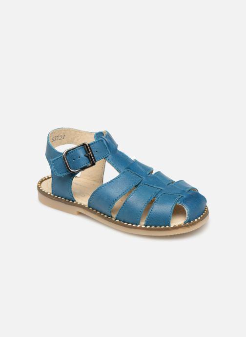 Sandales et nu-pieds Little Mary Brehat Bleu vue détail/paire