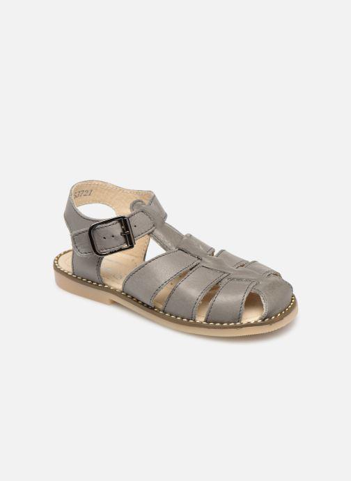 Sandales et nu-pieds Little Mary Brehat Gris vue détail/paire