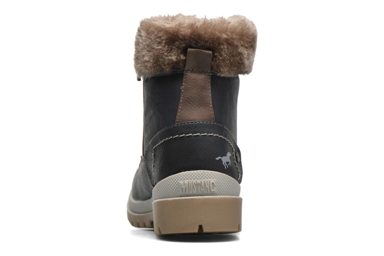 Bottines et boots Mustang shoes Aurelle Bleu vue droite