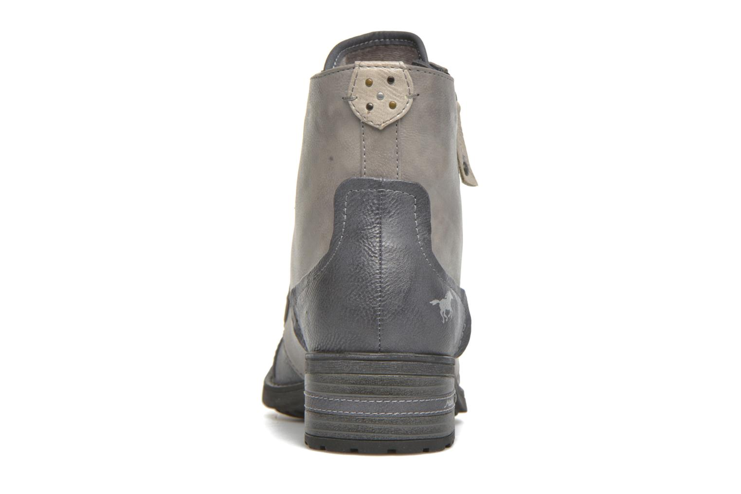 Ankle boots Mustang shoes Axelle Grey view from the right