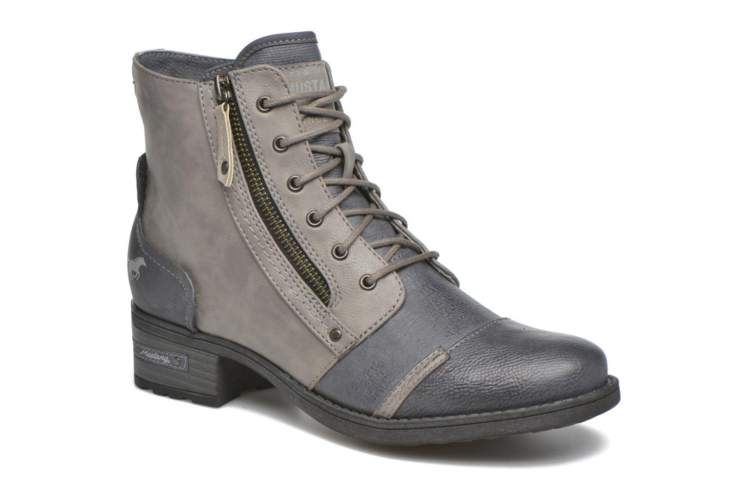 Ankle boots Mustang shoes Axelle Grey detailed view/ Pair view
