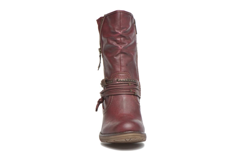 Bottines et boots Mustang shoes Bérénice Bordeaux vue portées chaussures