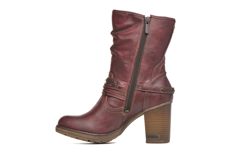 Bottines et boots Mustang shoes Bérénice Bordeaux vue face