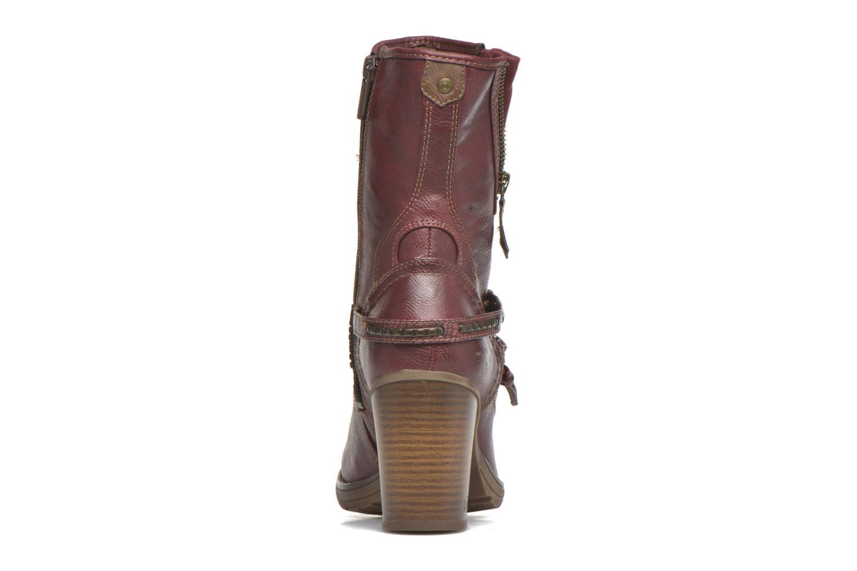 Bottines et boots Mustang shoes Bérénice Bordeaux vue droite