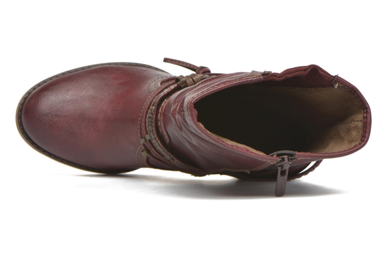 Bottines et boots Mustang shoes Bérénice Bordeaux vue gauche