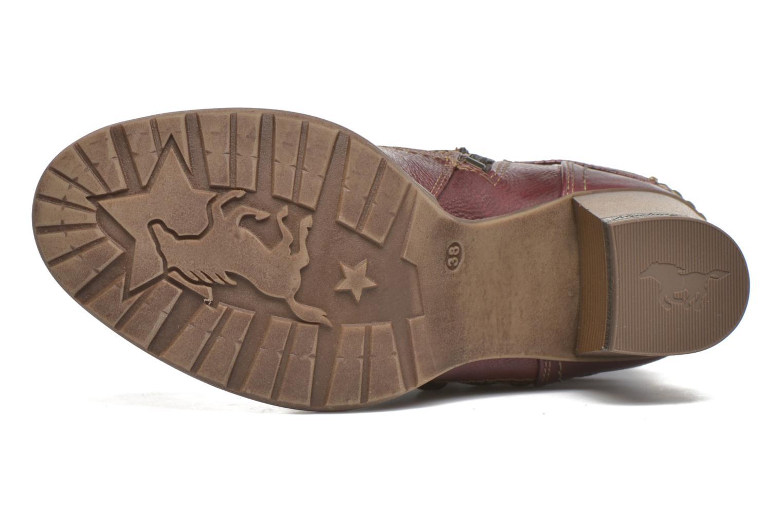 Bottines et boots Mustang shoes Bérénice Bordeaux vue haut