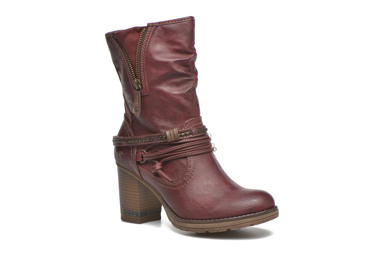 Bottines et boots Mustang shoes Bérénice Bordeaux vue détail/paire