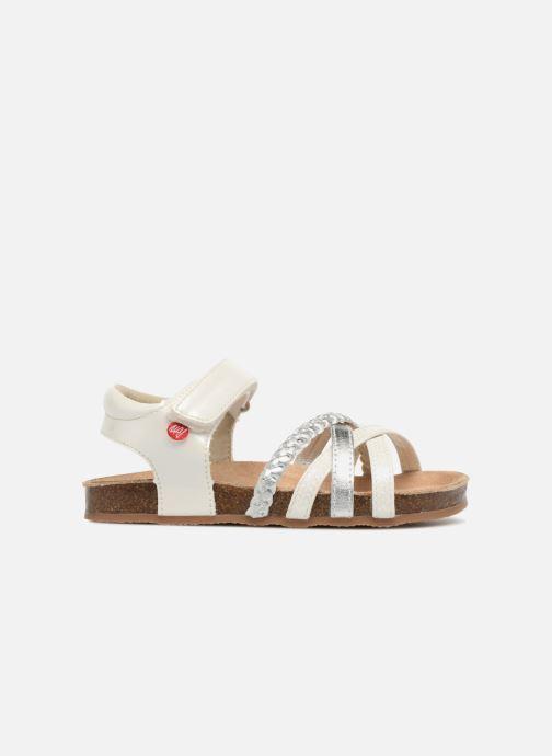 Sandales et nu-pieds NA! Aglaya Blanc vue derrière