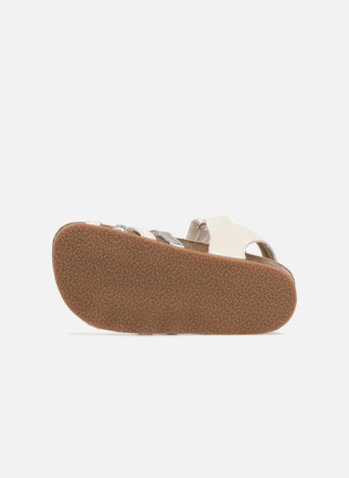 Sandales et nu-pieds NA! Aglaya Blanc vue haut