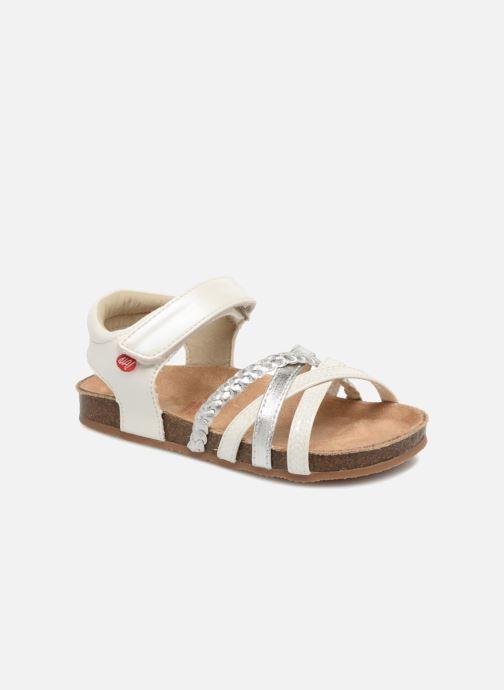 Sandales et nu-pieds NA! Aglaya Blanc vue détail/paire