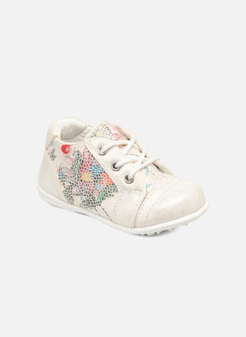 Chaussures à lacets NA! Acelle Blanc vue détail/paire
