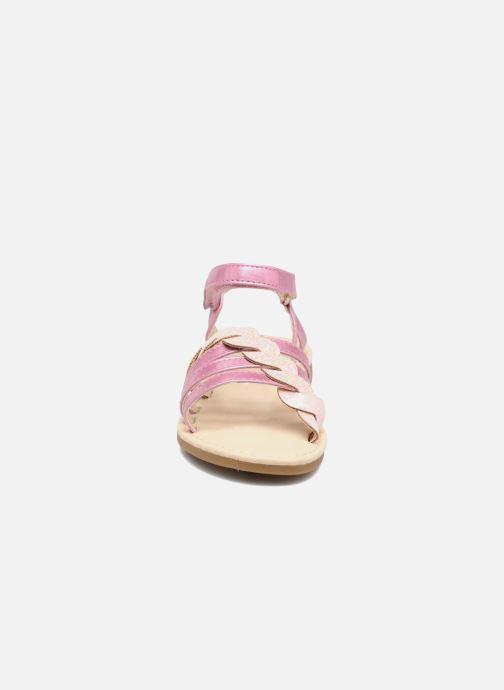 Sandales et nu-pieds NA! Feerie Rose vue portées chaussures
