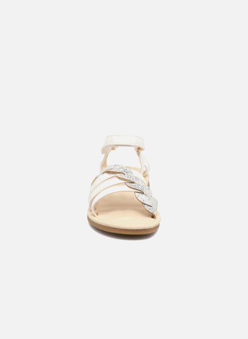 Sandales et nu-pieds NA! Feerie Blanc vue portées chaussures