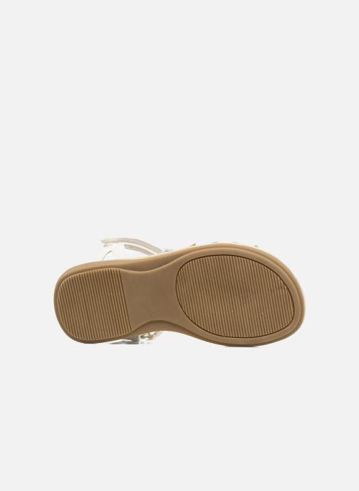 Sandales et nu-pieds NA! Feerie Blanc vue haut