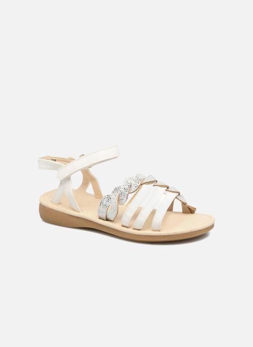 Sandales et nu-pieds NA! Feerie Blanc vue détail/paire