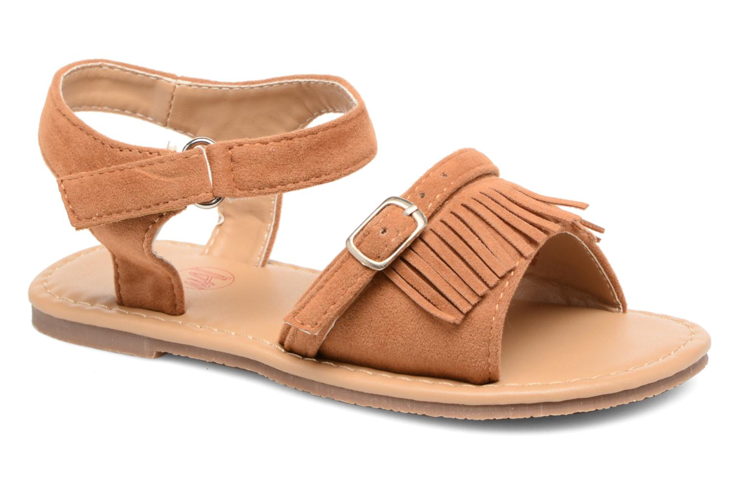 Sandals NA! Rubis Brown detailed view/ Pair view