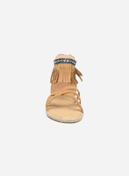 Sandales et nu-pieds NA! Rash Marron vue portées chaussures