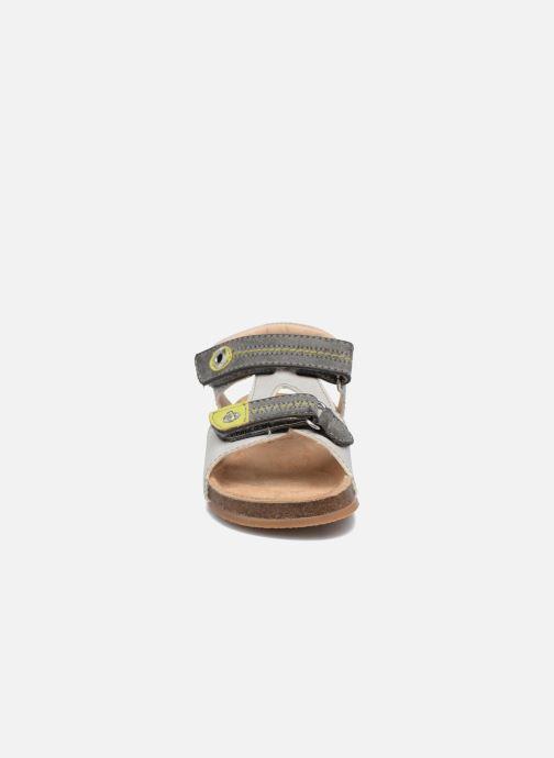 Sandales et nu-pieds NA! Anis Gris vue portées chaussures