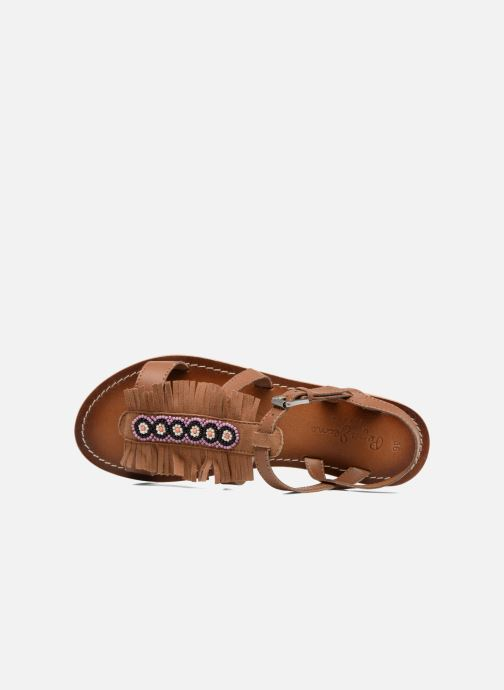 Sandalias Pepe jeans Maya Indian Marrón vista lateral izquierda