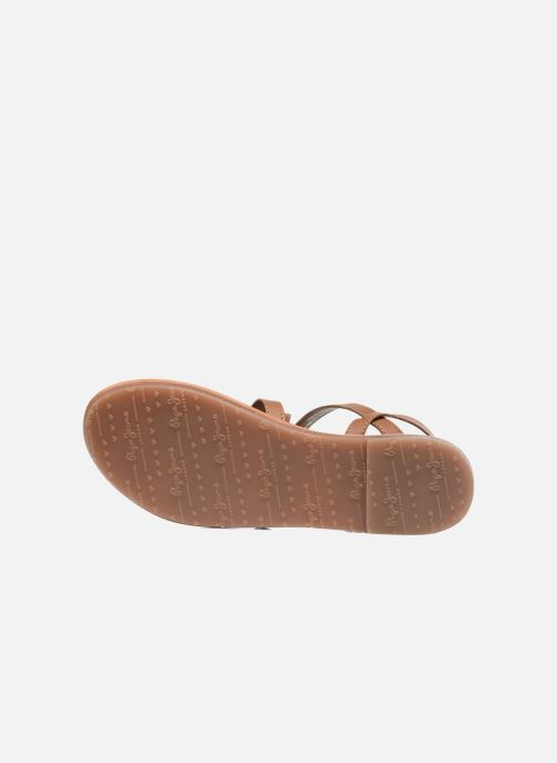 Sandalias Pepe jeans Maya Indian Marrón vista de arriba