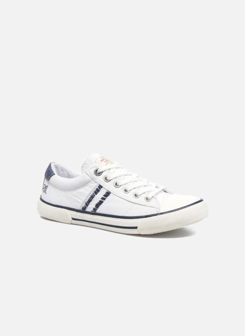 Baskets Pepe jeans Serthi Basic Blanc vue détail/paire