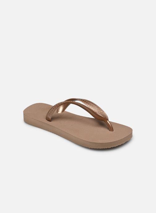Tongs Havaianas Top Tiras Marron vue portées chaussures