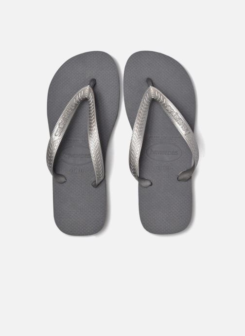 Flip flops Havaianas Top Tiras Grey 3/4 view